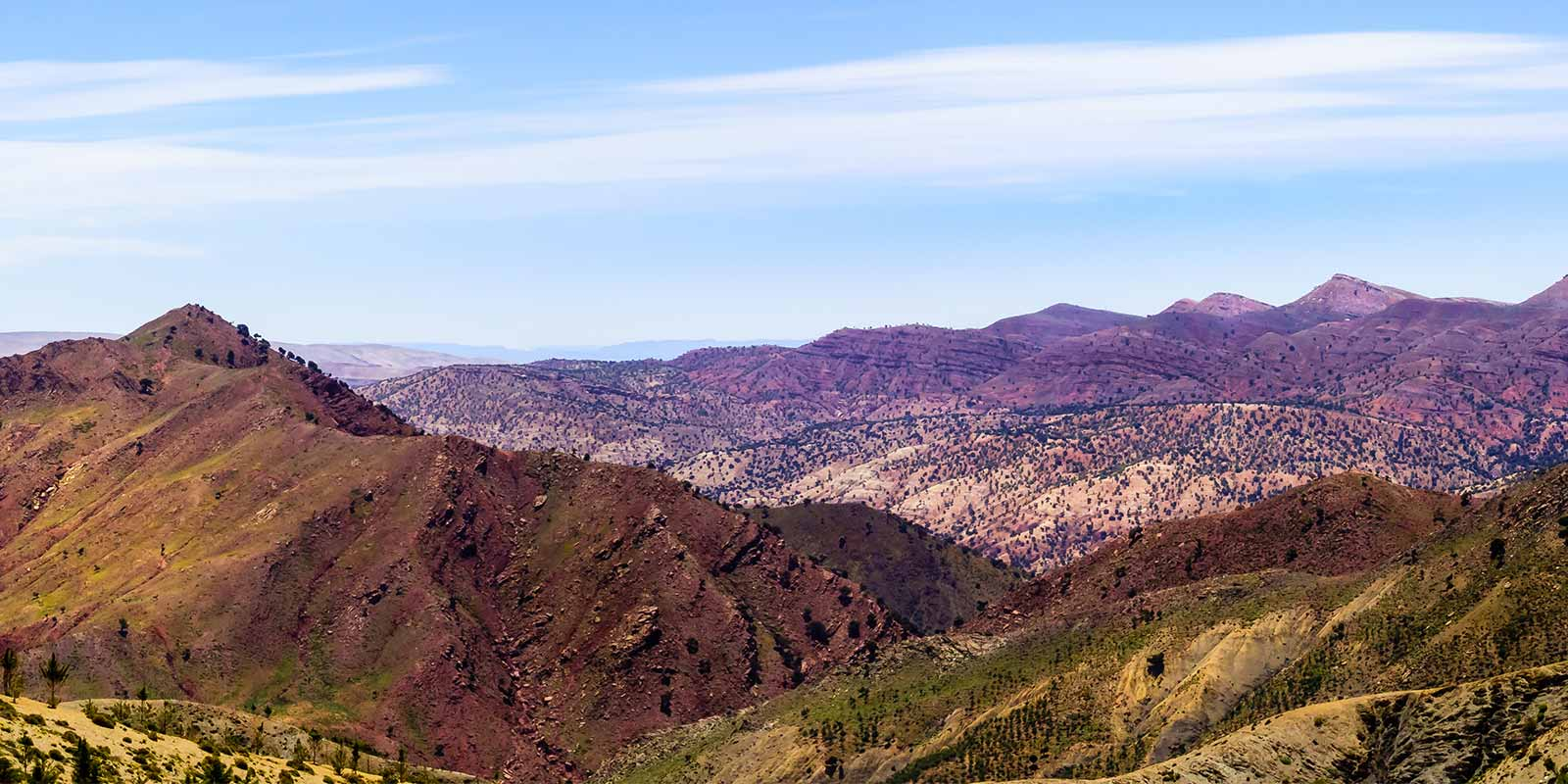 Panoramic view over the Atlas Mountains