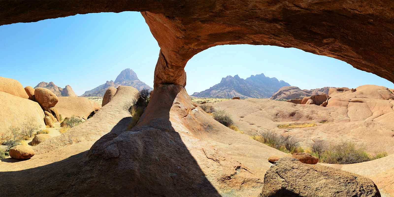 View through Natural Arch at Spitzkoppe