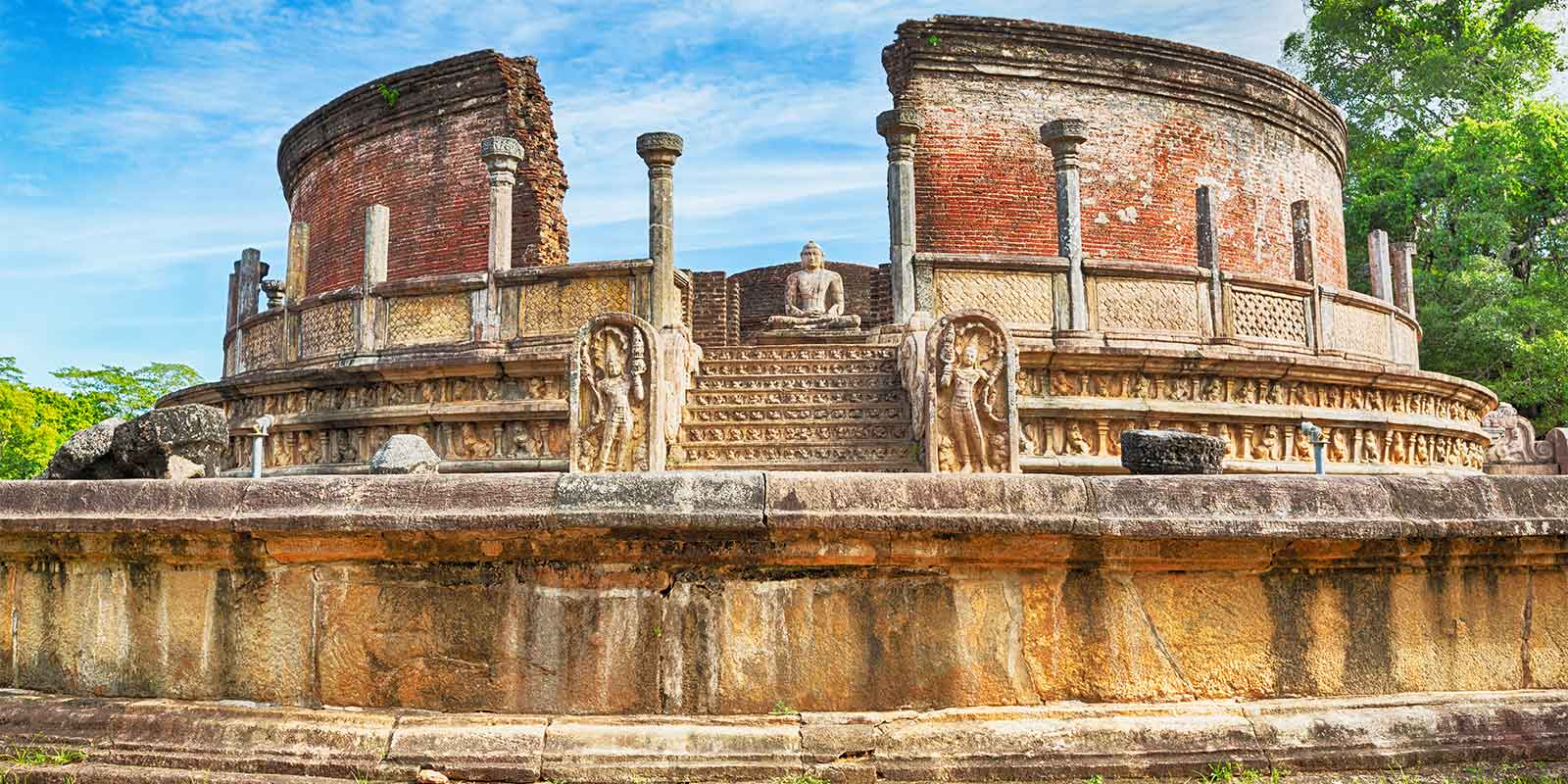 The Round House temple at Polonnaruwa