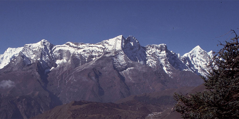 Snow-capped Annapurna mountain peaks