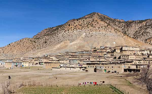 Berber village in the High Atlas Mountains