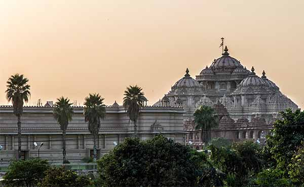 Facade of Akshardham Hindu temple