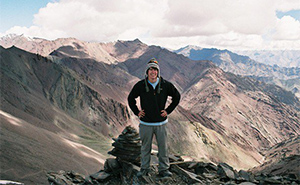 Schools Worldwide Alex Roberts on mountain in the Himalayas in Markha Valley