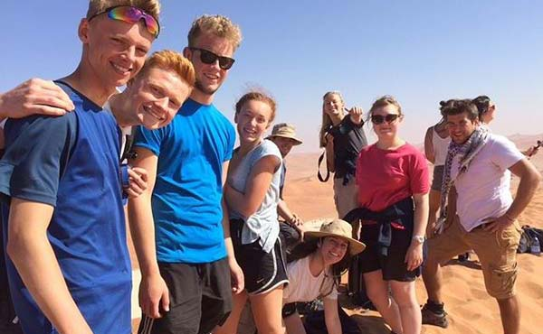 School group in the Namib desert