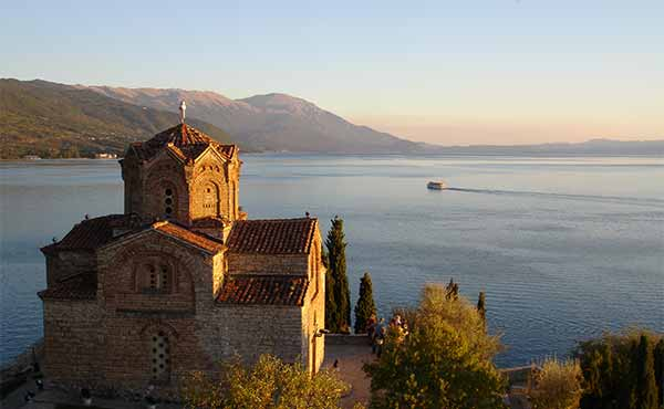 St John Kaneo church overlooking Lake Ohrid Macedonia