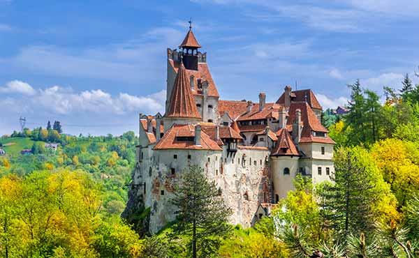 Dracula's Bran Castle in spring