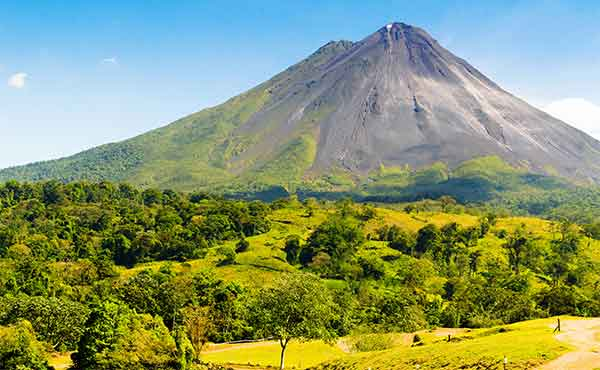 View of Arenal Volcano with vegetation